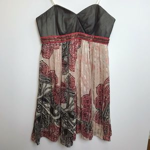 BCBG Maxazria Strapless Empire Waist Silk Dress 4